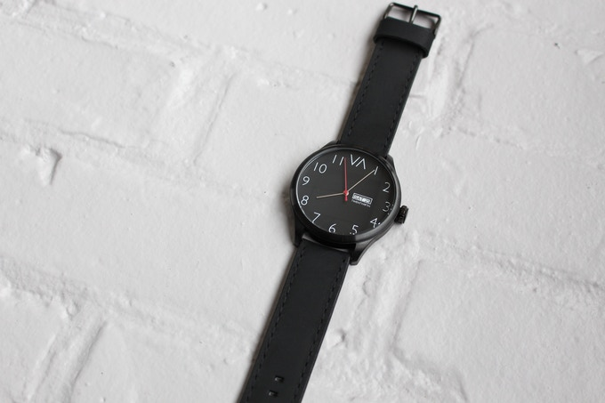 Black With Black Leather Band