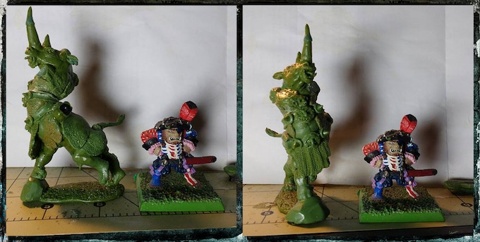 Model shown with a Marauder Ogre. Shown for size comparison only. Ogre model used without permission from the copyright holder.