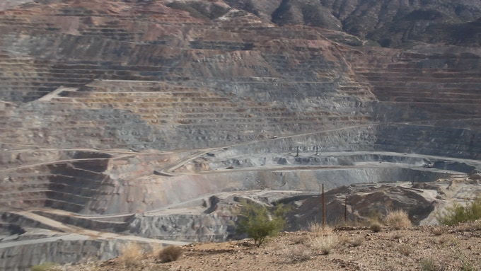 a nearby strip mining operation