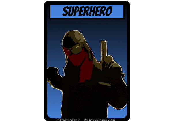 Beware the Might of Air Raid!  A totally made up hero that could be YOUR totally made up hero!