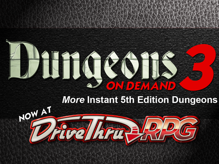 Dungeons On Demand  Volume 3 - 5E DnD Dungeon Adventures by Dan ... 727f29627f85