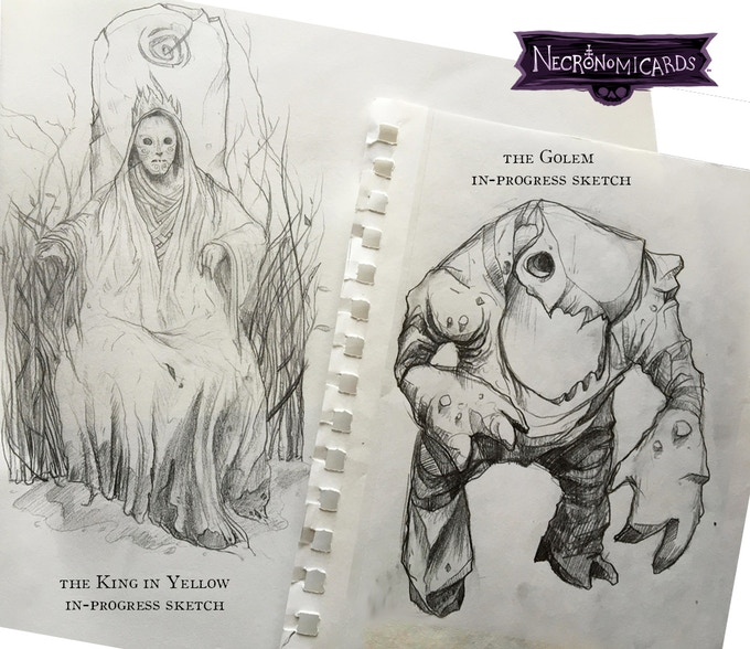 Two of the many, many sketches that I'd love to make into an art book.