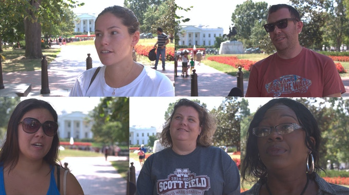Some of the people we interviewed on the sidewalks of Washington, DC.