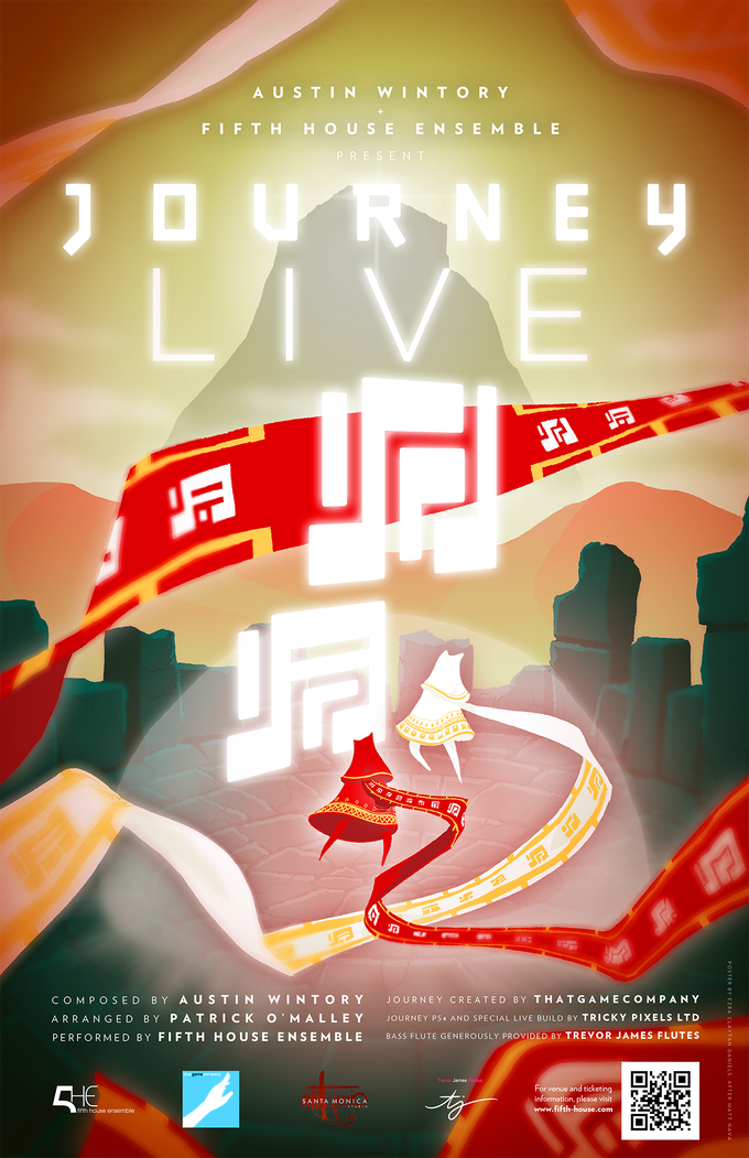 Journey LIVE Poster - design by Ezra Claytan Daniels