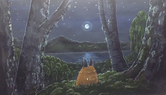A painting from the Wilybeasts picture book.