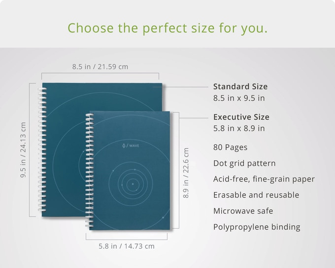 Rocketbook Wave: Cloud Connected Microwavable Notebook by