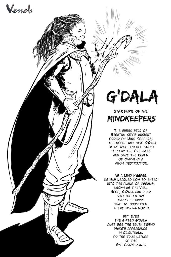 Wake's travelling companion G'Dala