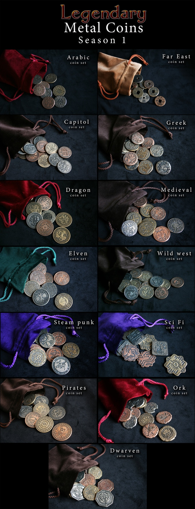 Since it is our Legendary Metal Coins Season 2, you can still get the ones from Season 1! Click on the image above to check the coins and read all the details about them.