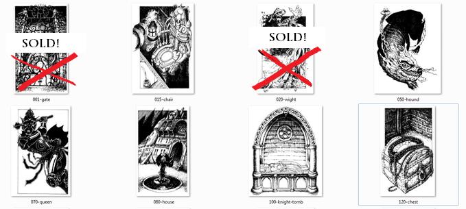 Original 1984 drawings - Priced at 500 euros each