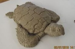 Mrs. Loggerhead full body facing forward clay model