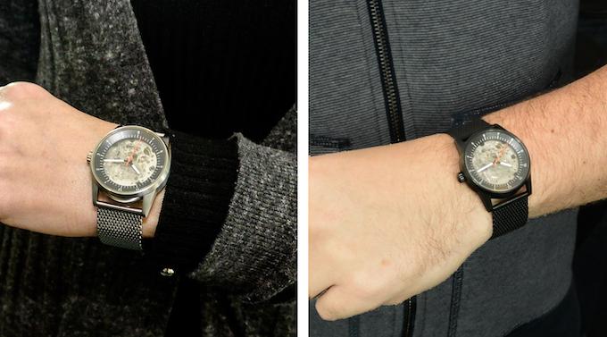 The 38mm diameter case looks good on all wrist sizes