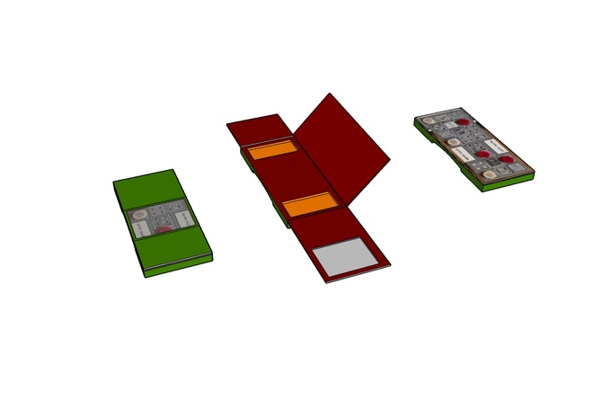 Sketchup design for a two-sided board