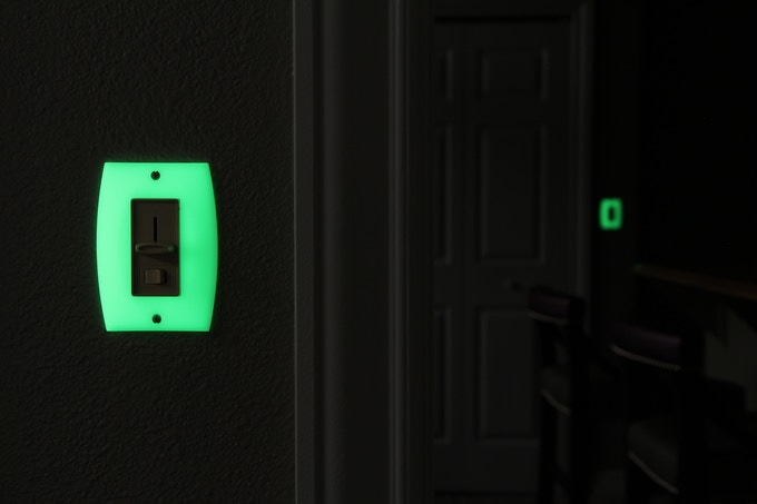 GlowaSwitch Rocker appearance when glowing in the dark