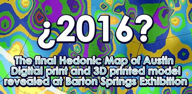2016 Final Map, Digital Print and 3D Printed Model