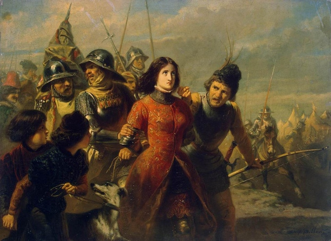 Adolphe Alexandre Dillens - Capture of Joan of Arc