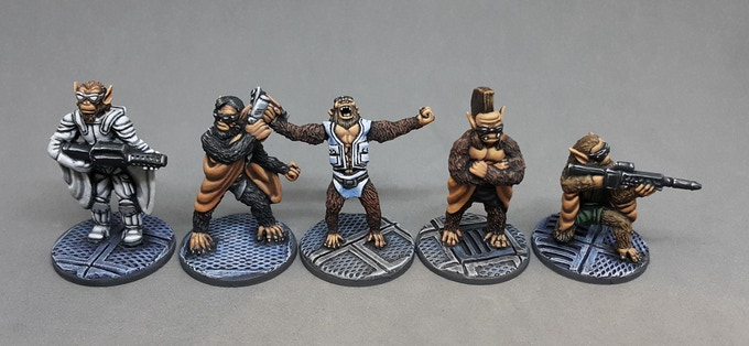 All five SIMIAN ULTRA X Miniatures