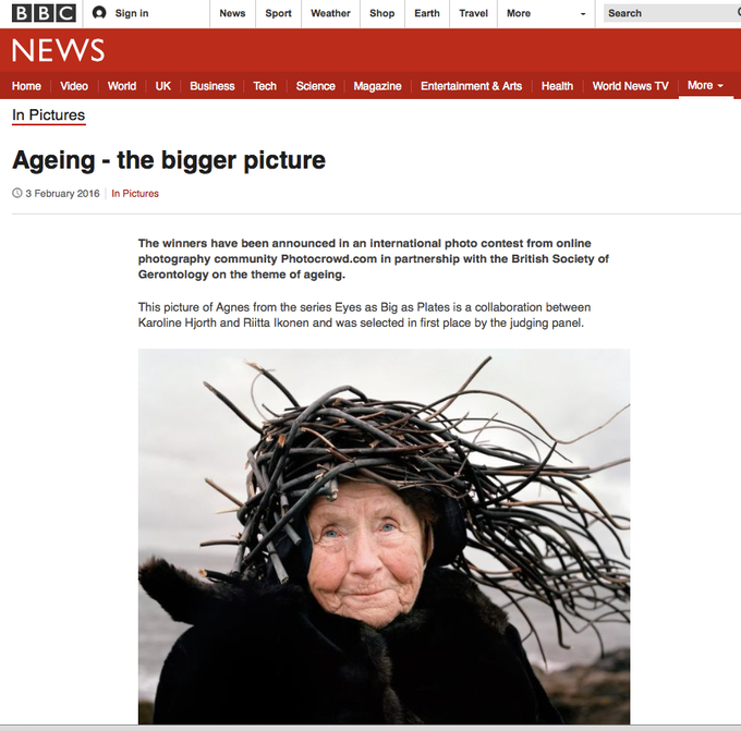 Agnes' BBC guest appearance, after winning the Photocrowd jury's 1st price.