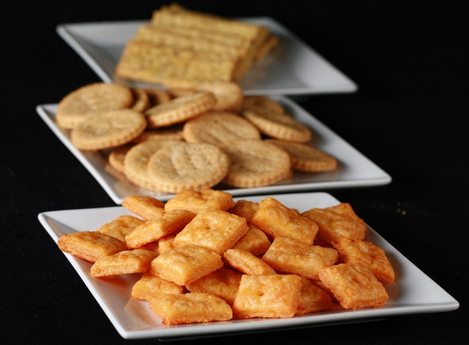 Flaky, TASTY crackers that are easy to make and don't cost a fortune!