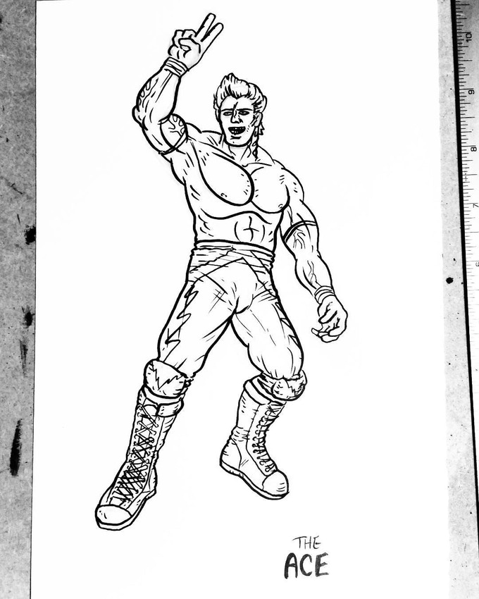 Initial sketch of The Ace, by JB Roe!