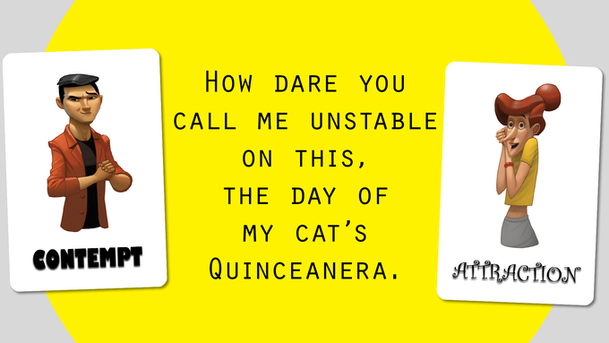 Unstable? Sentence card courtesy of Twitter's @phranqueigh with permission