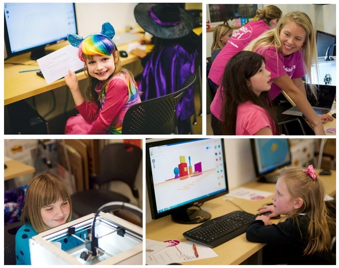 MakerGirl Sessions held at the University of Illinois MakerLab
