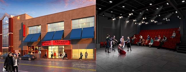 Artist's rendering of the Entrance and the Main Stage of our new home!