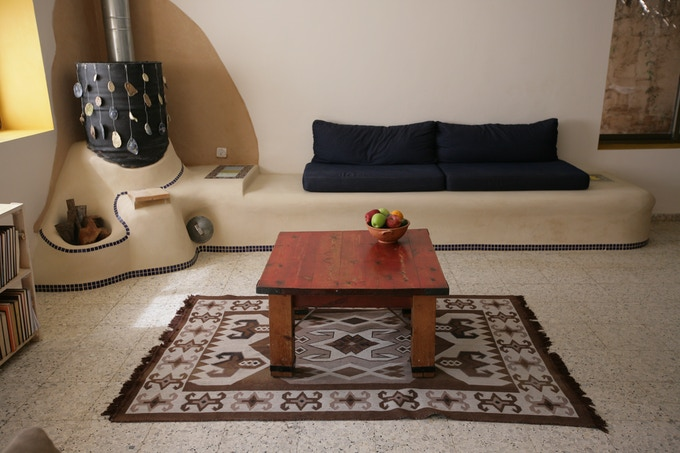 Mediterranean Heater with simple tile decoration, from Chapter 3, by Adiel Shnior and friends, photo by Adi Segal
