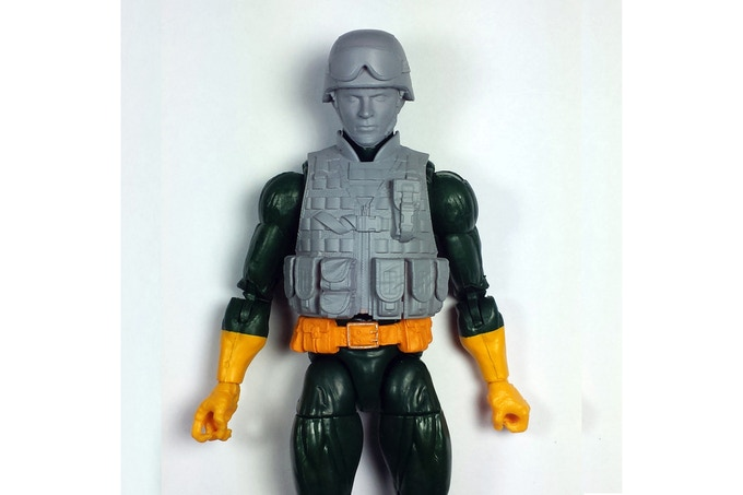 Soldier head and vest on Marvel Legends Hydra body