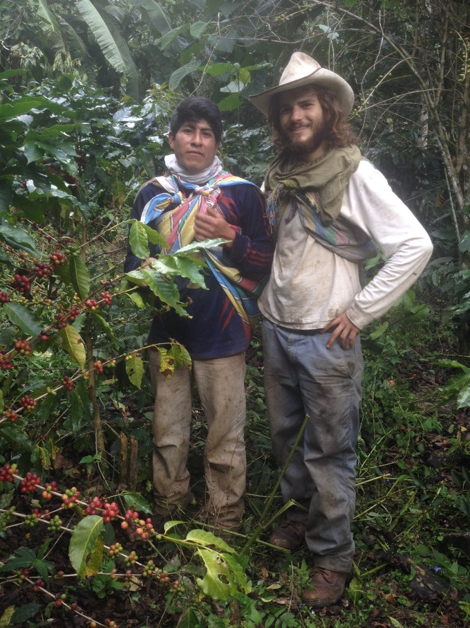 Peruvian Partner Lin Mael and I on His Coffee and Cacao Farm