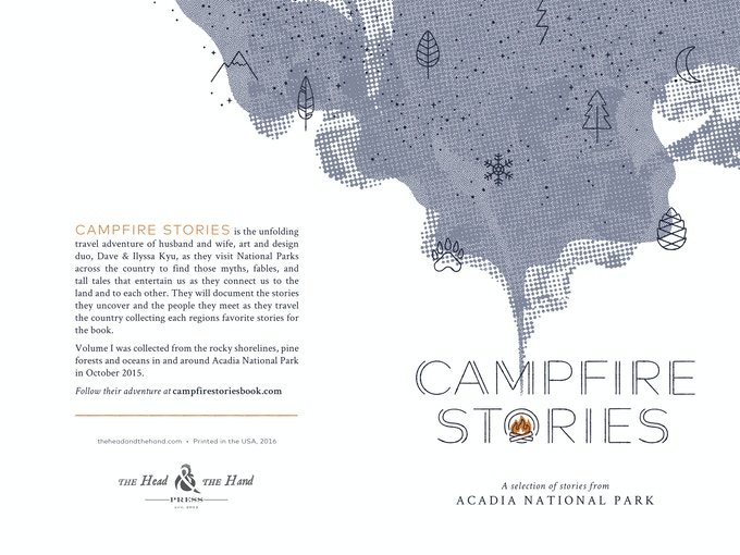 The front and back cover of the chapbook - Volume I: Acadia Stories