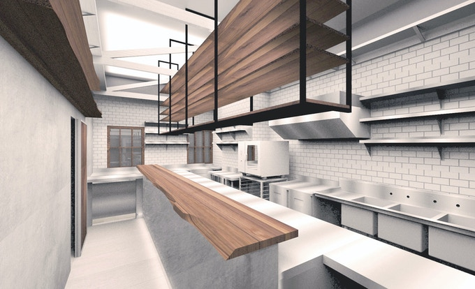 Rendering of OSAKANA back bar