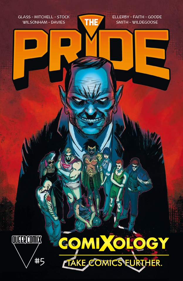 The Pride #5 cover by Cory Smith. Available now on Comixology!