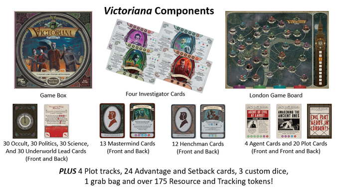 Each card in Victoriana is unique, providing a different experience every time.