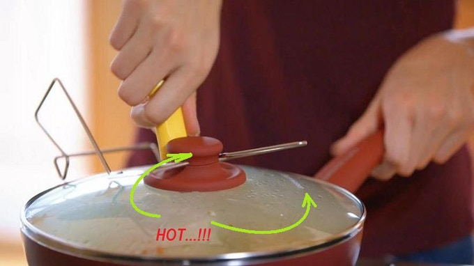 With the LidSitter on, you are in the clear of hot surfaces on the stove