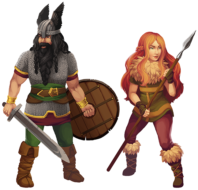 Ulfgar and Brynnhilde by Anna Maria Klimkovic