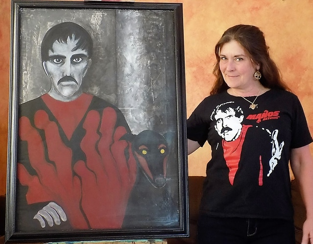 Jackey and her Master painting