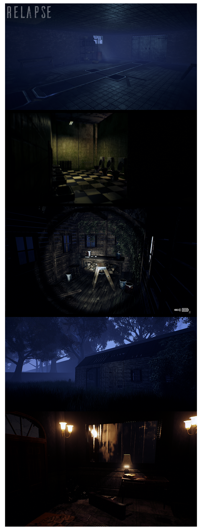 Some of the environments from Relapse