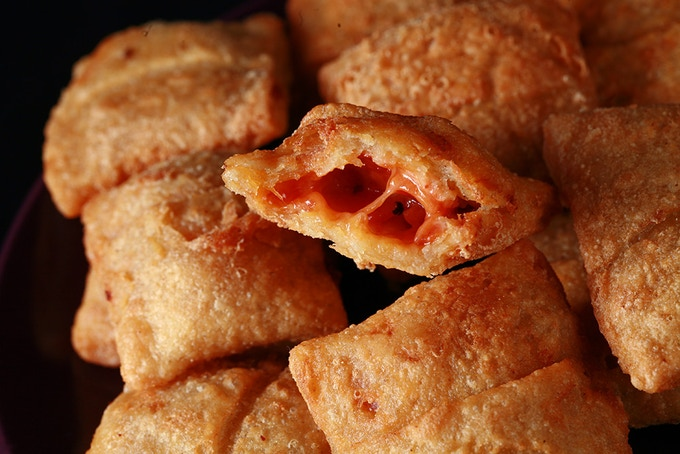 """Chewy, delicious homemade pizza rolls... """"GLUFREENOS!"""", as one friend declared. Easy to make, properly blistery crust - so good. Adults and kids alike - gluten-fee or not - will love the food from this book."""