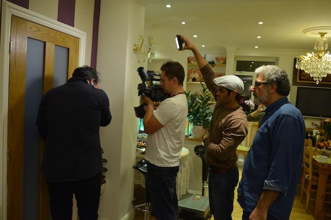 Director Hamid Khairoldin overseeing an audition scene for Joan of Arc.