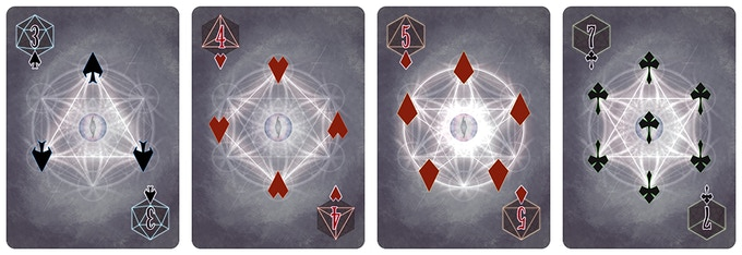 A few of the numbered cards