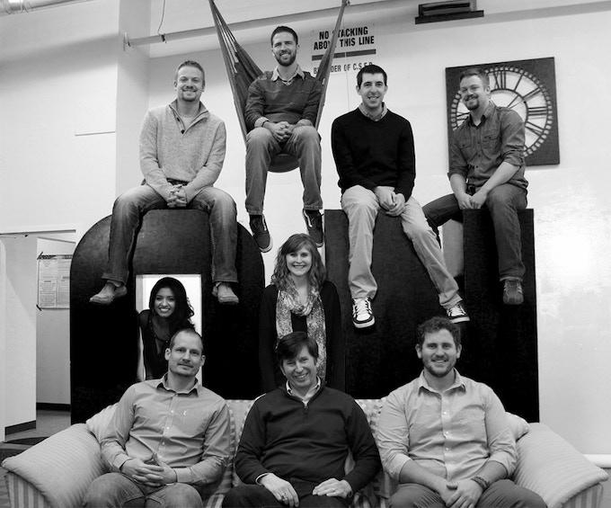 Top: Ryan Pedersen (M.S. ME.), Joe Griebel (M.S. ME), Cole Allen (M.S. BME), Matt Pedersen (M.S. ME) Middle: Karmyn Medina (B.A. Comm), Jessica Larson Bottom: Jesse Mcclure (M.S. ME), Michael Larson (PhD ME), Tucker Walsh (B.S. ME)