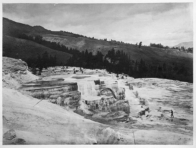 No. 214. GROUP OF LOWER BASINS (Mammoth Hot Springs)