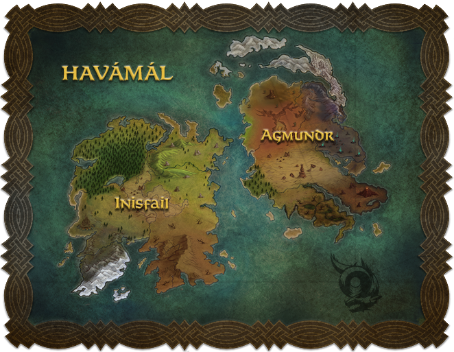 The Two Continents: Inisfail and Agmundr - By Oliver Guevara