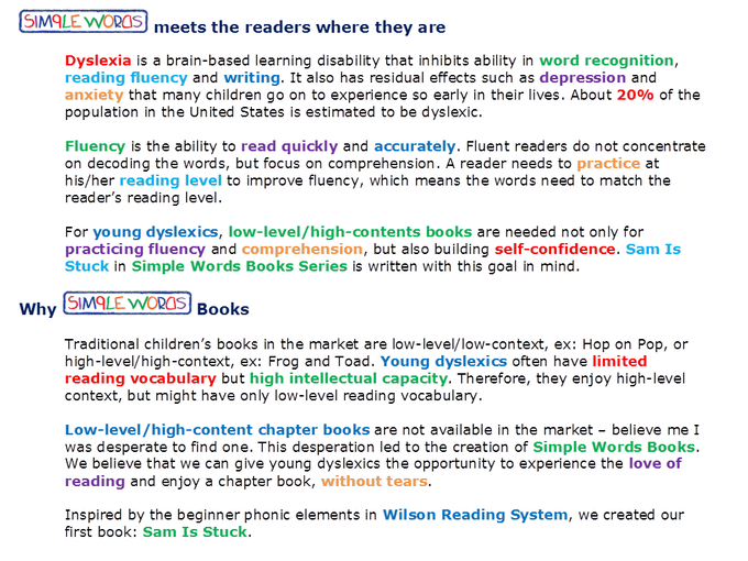 Sam is stuck a chapter book for young dyslexics by simple words for sam is stucks word list and frequency click here fandeluxe Images