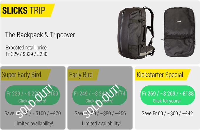 Slicks Travel System One Backpack Limitless