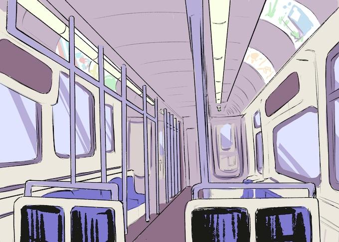 L Train Environment by Katrina E. Kunstmann