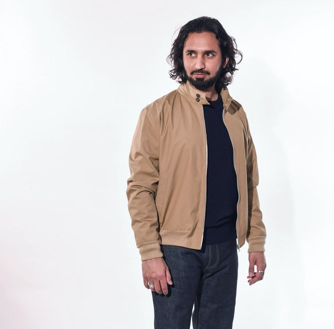 Rizwan in Khaki Harrington and Men's Jean