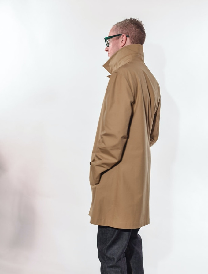 Ben in Khaki Raincoat and Men's Jean