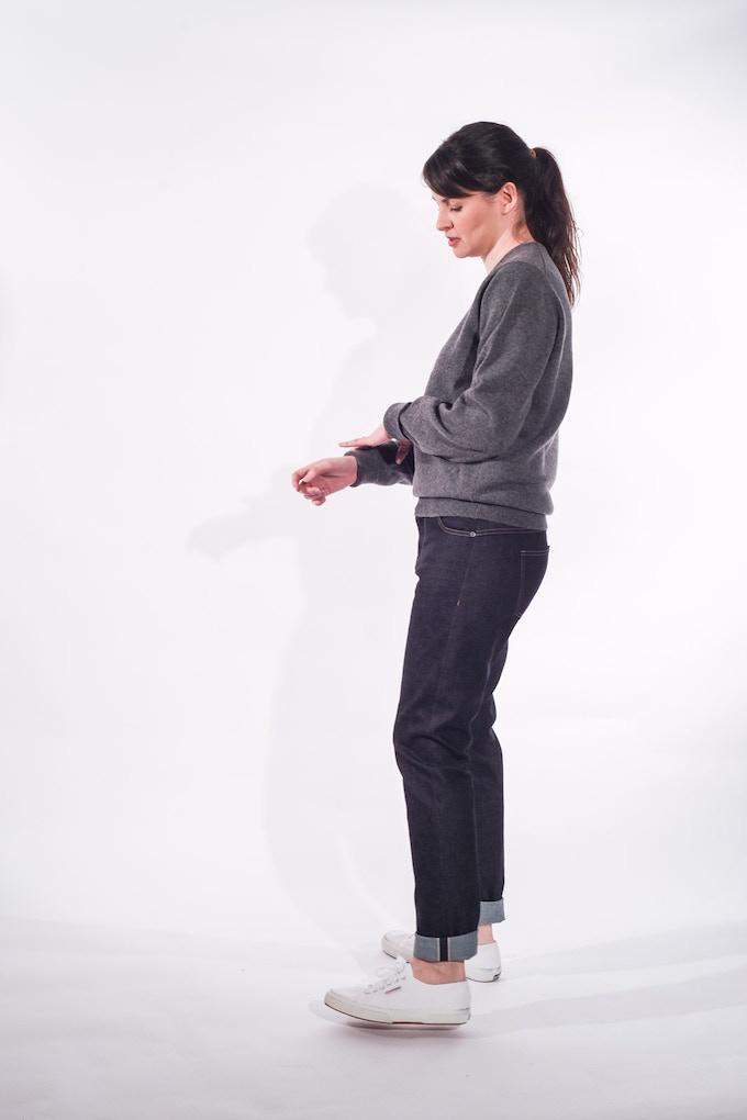 Sarah in Women's Jean