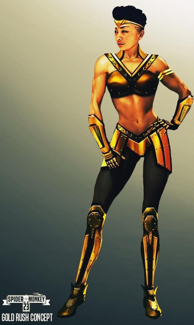 Gold Rush 3D Concept Art